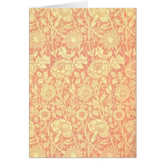 William Morris Pink and Rose Design Card