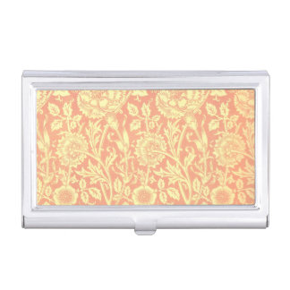William Morris Pink and Rose Design Case For Business Cards