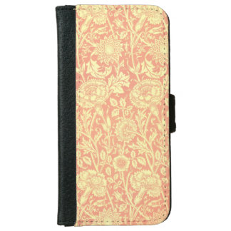 William Morris Pink and Rose Design iPhone 6 Wallet Case