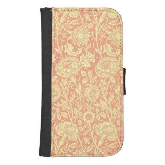 William Morris Pink and Rose Design Samsung S4 Wallet Case