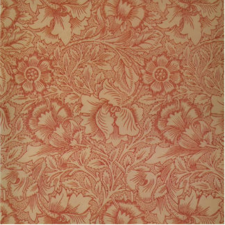 William Morris Pink Poppy Flower Pattern Cut Out