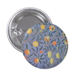 William Morris Pomegranate Floral Vintage Fine Art 3 Cm Round Badge