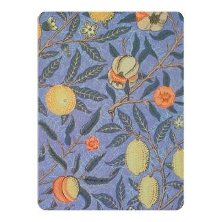 William Morris Pomegranate Floral Vintage Fine Art 14 Cm X 19 Cm Invitation Card