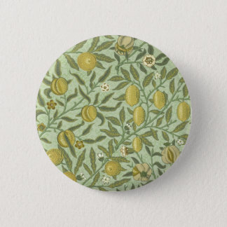 William Morris Pomegranate Fruit Design 6 Cm Round Badge