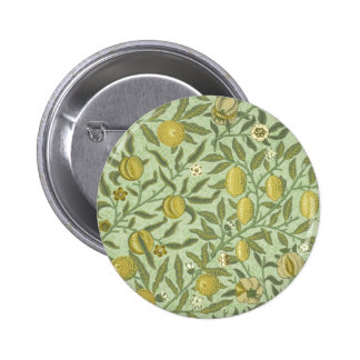 William Morris Pomegranate Fruit Design 6 Cm Round Badge