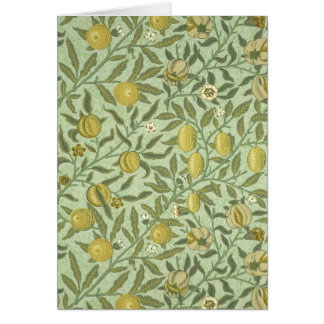 William Morris Pomegranate Fruit Design Card