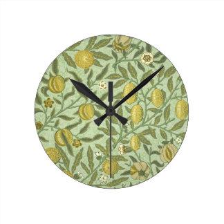 William Morris Pomegranate Fruit Design Clocks