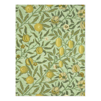 William Morris Pomegranate Fruit Design Postcard