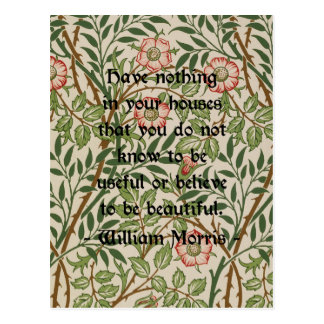William Morris Quote Postcard