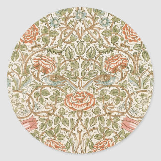 William Morris Rose Round Sticker