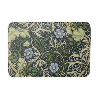 William Morris Seaweed Pattern Floral Vintage Art Bath Mat