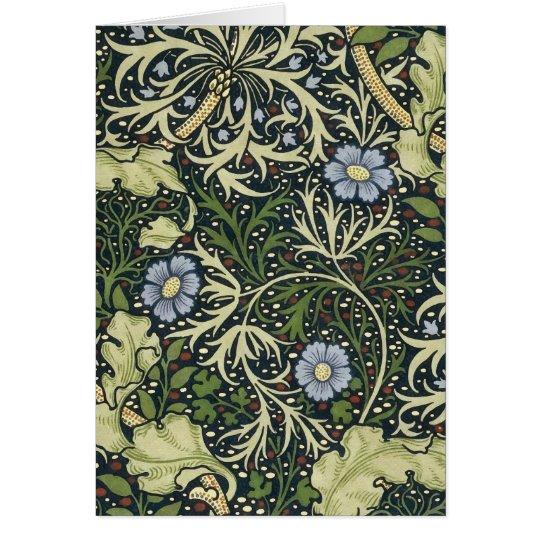 William Morris Seaweed Pattern Floral Vintage Art Card