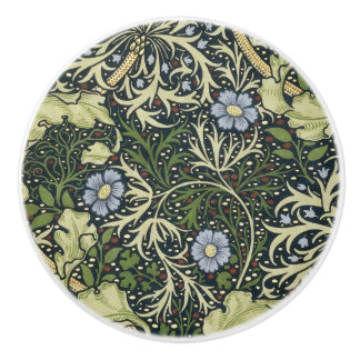 William Morris Seaweed Pattern Floral Vintage Art Ceramic Knob