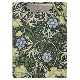 William Morris Seaweed Pattern Floral Vintage Art Clipboard