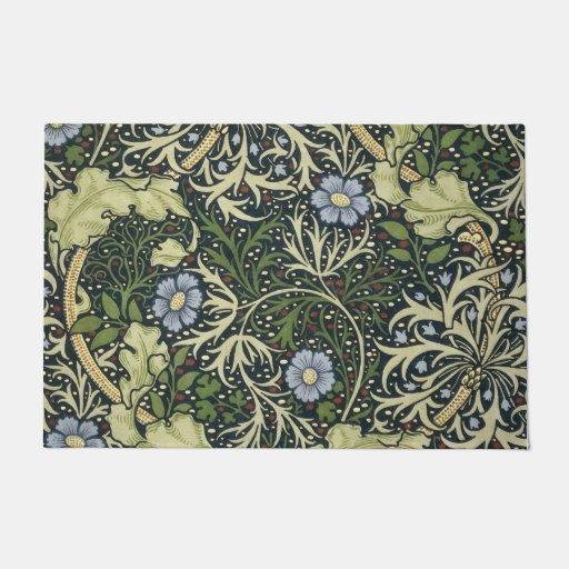 William Morris Seaweed Pattern Floral Vintage Art Doormat