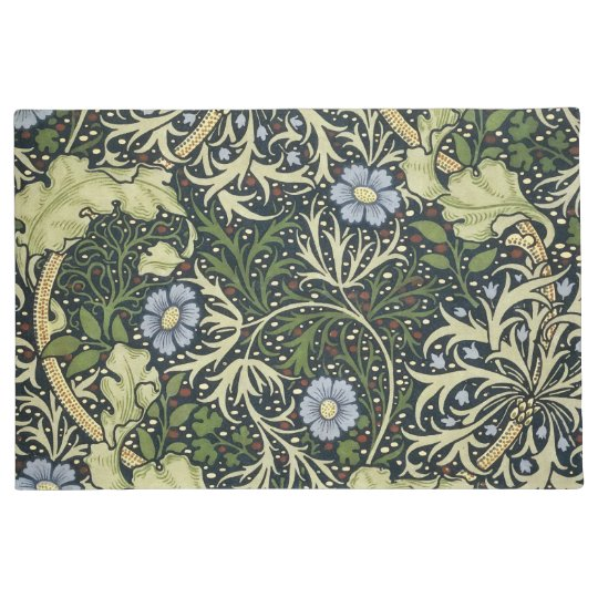 William Morris Seaweed Pattern Floral Vintage Art Doormat