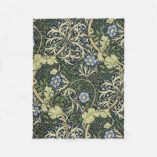 William Morris Seaweed Pattern Floral Vintage Art Fleece Blanket