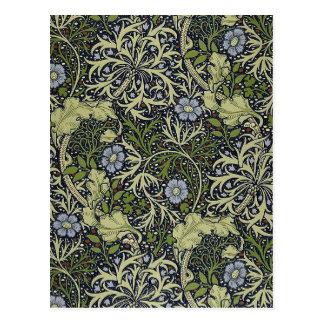 William Morris Seaweed Pattern Floral Vintage Art Post Cards