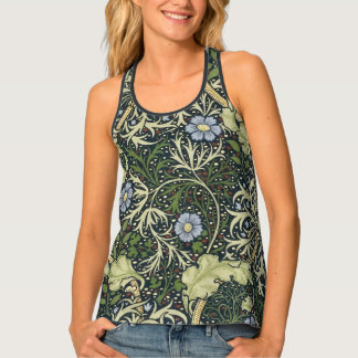 William Morris Seaweed Pattern Floral Vintage Art Tank Top