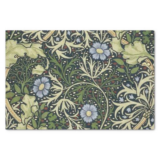 William Morris Seaweed Pattern Floral Vintage Art Tissue Paper