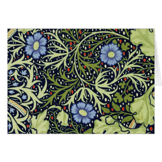 William Morris Seaweed Wallpaper Pattern Card