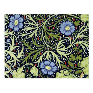William Morris Seaweed Wallpaper Pattern Postcard
