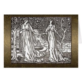 William Morris Sepia Card