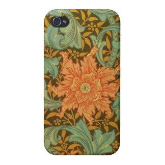 William Morris Single Stem Pattern Art Nouveau iPhone 4/4S Cover