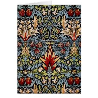 William Morris Snakeshead Floral Design Card