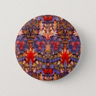 William Morris Snakeshead Vintage Floral 6 Cm Round Badge