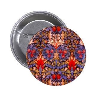 William Morris Snakeshead Vintage Floral 6 Cm Round Badge