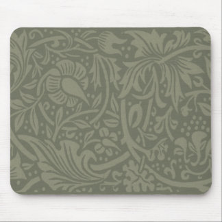 William Morris Soft Green Floral Vintage Pattern Mouse Pad