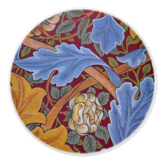 William Morris St. James Vintage Floral Design Ceramic Knob