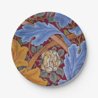 William Morris St. James Vintage Floral Design Paper Plate