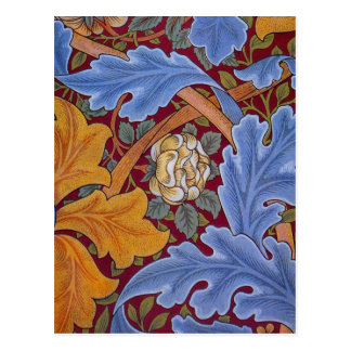 William Morris St. James Vintage Floral Design Postcard