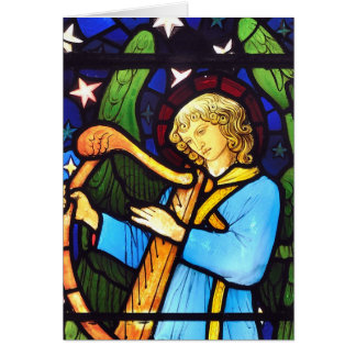 William Morris stained glass angel Greeting Card