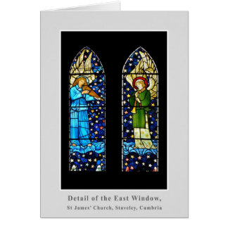 William Morris stained glass panel Greeting Card