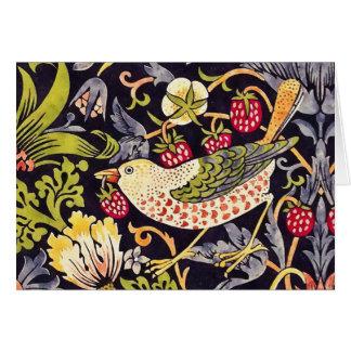 William Morris Strawberry Thief Floral Art Nouveau Card