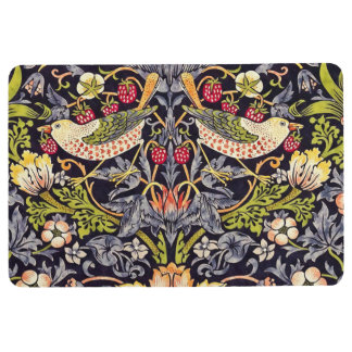 William Morris Strawberry Thief Floral Art Nouveau Floor Mat