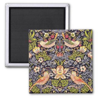 William Morris Strawberry Thief Floral Art Nouveau Magnet