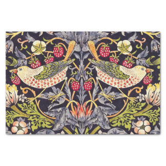 William Morris Strawberry Thief Floral Art Nouveau Tissue Paper