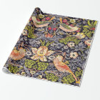 William Morris Strawberry Thief Floral Art Nouveau Wrapping Paper