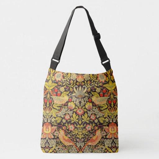 William Morris Strawberry Thief Pattern Crossbody Bag