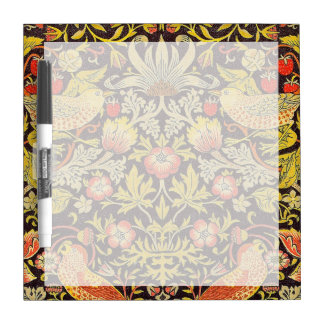 William Morris Strawberry Thief Pattern Dry Erase White Board