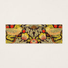 William Morris Strawberry Thief Pattern Mini Business Card