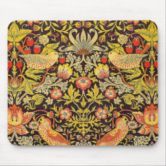 William Morris Strawberry Thief Pattern Mouse Pad