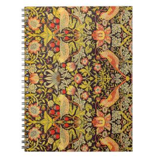 William Morris Strawberry Thief Pattern Notebook