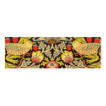 William Morris Strawberry Thief Pattern Pack Of Skinny Business Cards