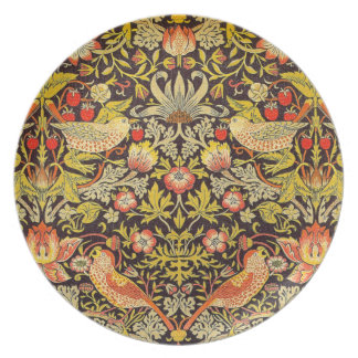 William Morris Strawberry Thief Pattern Party Plates