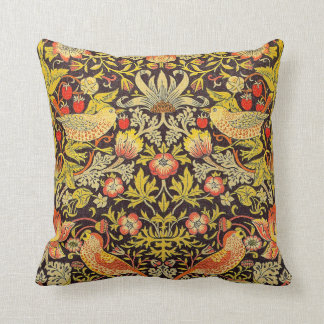 William Morris Strawberry Thief Pattern Throw Cushion